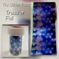 Foil - Blue Galaxy Transfer Foil