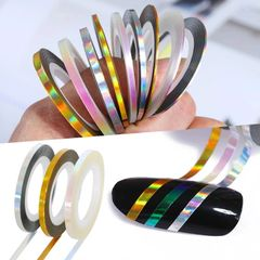 2 mm Holograpic Striping Tape (3 rolls, gold, silver & irridescent)