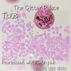 Pearlescent White With Pink Dot Mix (Tci03)