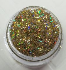 GO16 Holographic Gold (Fibers) Solvent Resistant Glitter