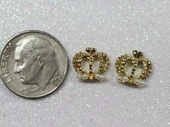 3D Crown #12 Gold Crown with Pearls (pack of 2)