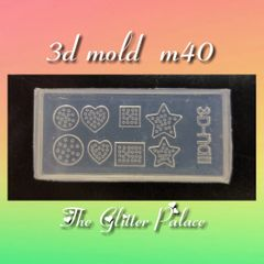 3D Mold - #40 Hearts & Stars Make Your Own 3-D Decorations