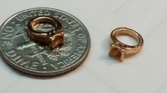 Charm #26 - Gold Ring with Open Center (Perfect For Floating Lockets,, Nail Decoration & Crafts)