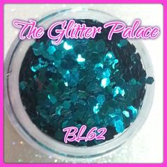 BL62 Turquoise (.062) Solvent Resistant Glitter
