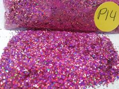 P14 Holographic Pink (.025) Solvent Resistant Glitter