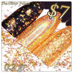 Holographic Gold Chrome Powder (0.2 gr )