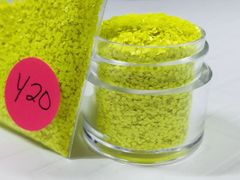 Y20 Neon Yellow (.040) Solvent Resistant Glitter