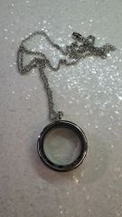 Living Locket or Floating Locket Necklace- Round, No stones- (charms not included)