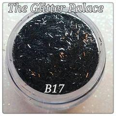 B17 New Black Fiber Solvent Resistant Glitter