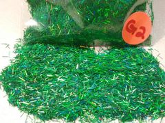 G2 Holographic Green Fibers Solvent Resistant Glitter