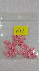 F17 Pink Flowers Sliced Femo Insert