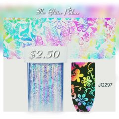 Holographic Butterfly & Flowers Foil