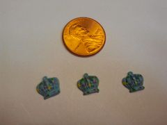 3D crown #1,nail charm decoration (pack of 3)