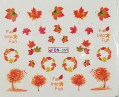 Fall Leaves & Trees Waterslide Decal (BN-365)
