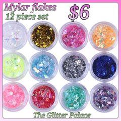 Pre order : 12 piece Mylar Flake Set
