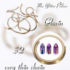 Flat Gold Very Thin Chain