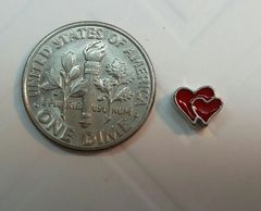 Charm #22 - Red Double Hearts (Perfect For Floating Lockets,, Nail Decoration & Crafts)