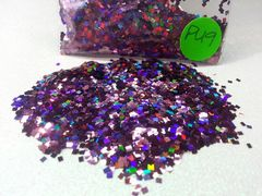 PU9 Holographic Garnent (Squares) Solvent Resistant Glitter