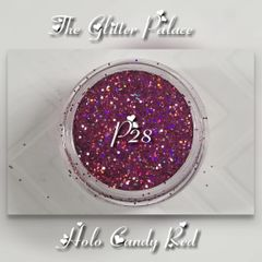 P28 Holo Candy Red (.015) Solvent Resistant Glitter