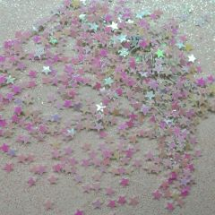 IN51 1/8th Holographic White Star Glitter Insert (1.5 gr baggie)