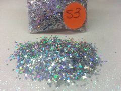 S3 Holographic Silver (.040) Solvent Resistant Glitter