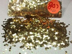 GO7 Brilliant Gold Squares Solvent Resistant Glitter