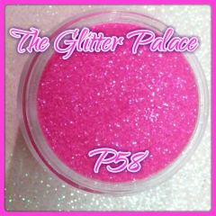 P58 Flouro Pink (.008) Solvent Resistant Glitter
