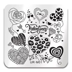 Stamping Plate - (UR-M01) Valentine