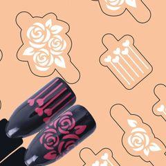 Rose, Flower Nail Vinyl