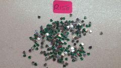 Rhinestone #R158 (green heart rhinestone)