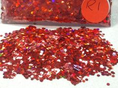 R1 Holographic Red (.062) Solvent Resistant Glitter