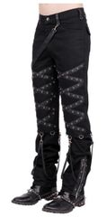 Alexis Gothic Criss Cross Men's Trousers