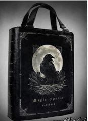 """Black Book Bag """"Magic Spells Raven"""""""