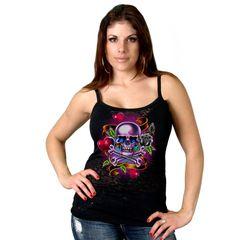 Tattoo Skull with Hearts