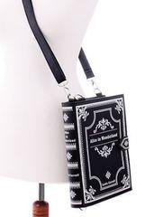 "Black Book Bag ""Alice in Wonderland"""