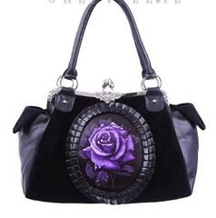 "Cameo Bag ""Purple Rose"""