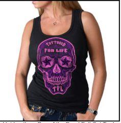 Tattooed for Life Sugar Skull Tank