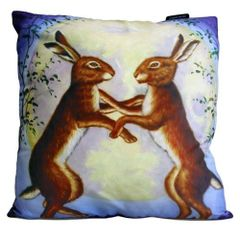 Night Dancing Hares Cushion