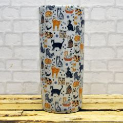 Round Cat Design Umbrella Stand 18""