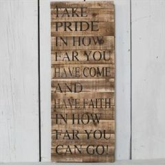 Wooden Take Pride Sign 76cm