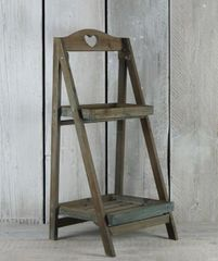Wooden Heart Plant Stand 68cm