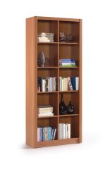 BREEZE Nut Brown Double Bookcase Squares