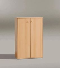 FUSIA Short Beech Filing Stationary Cupboard