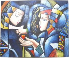 Cubism Inspired 3 - 50cm x 60cm Real Art Painting, Oil on Canvas