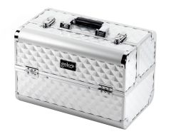 Beauty Case Vanity Case / Makeup Box Heavy Duty Silver