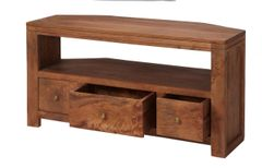Indian Hub MANHATTAN Light Mango Corner Tv Cabinet