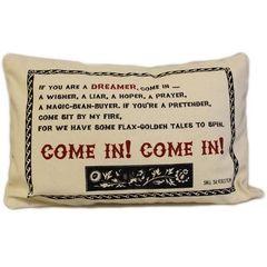 Come In! Cotton Canvas Cushion