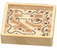 Wooden Medium Sized Marble Maze Puzzle