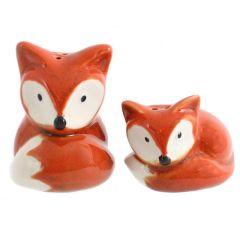 Fox Cruet Set Salt and Pepper Novelty Set