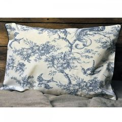 Blue Bird Design Cushion 40 x 60cm